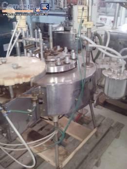 Máquina de envasar ampolas e flaconetes com batoque