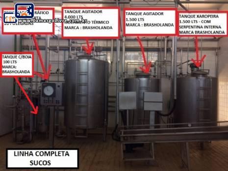 Linha completa para produção pasteurização e envase de sucos