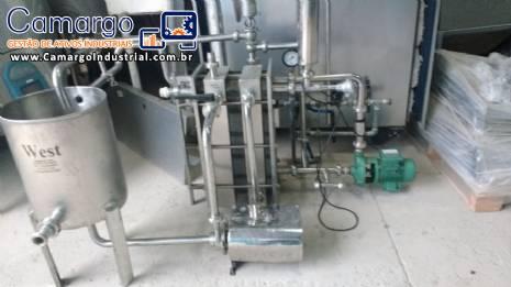 Pasteurizador de placas 2.000 L West equipamentos